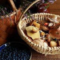 Первые грибочки-ягодки. :: Galina S*