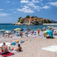 summer day on the beach in Montenegro :: Dmitry Ozersky