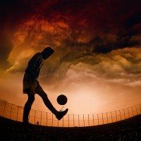 Demonic football :: Max Kenzory Experimental Photographer