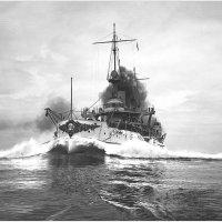 "USS battleship ""Connecticut"" running speed trials off the Maine coast, Casco Bay, 1906. :: Александр"