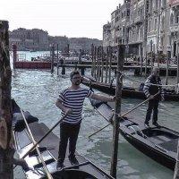 Venezia. Gondolieri sul Canal Grande. :: Игорь Олегович Кравченко