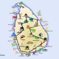 Карта моего путешествия по Шри-Ланке :: ИРЭН@ .