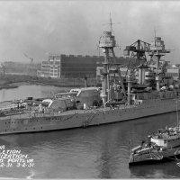 "USS ""Arizona"" upon completion of modernization, Norfolk Navy Yard, 2.03.1931. :: Александр"