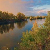 Осенним вечером на Енисее :: Екатерина Торганская