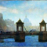 My magic Petersburg_03132 р. Фонтанка. Мост Ломоносова :: Станислав Лебединский