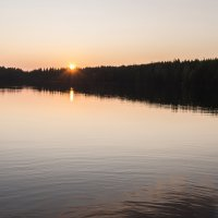 Вечер на озере. :: Андрей Зайцев