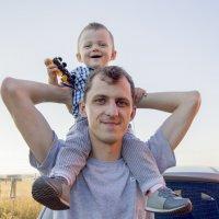 Папа и сын :: Евгения Мотылева