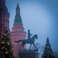 У памятника Маршалу под Новый Год :: Валерий Гудков