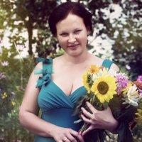 портрет с букетом :: Светлана Лагутина