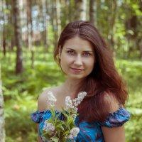 Девушка с букетом. :: Наташа Ромашова