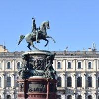 Памятник Николаю I  на Исаакиевской площади в Санкт-Петербурге. :: Galina Leskova