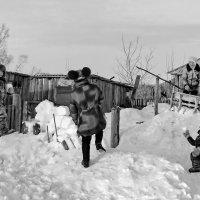 Зимние игры детей села :: Светлана Рябова-Шатунова