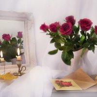 ...и праздничных роз отраженье... :: Валентина Колова