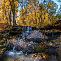 Травертиновый водопад в Татарском лесу :: Фёдор. Лашков