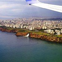 Дюденский водопад из окна самолёта :: Nina Karyuk