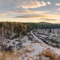 Первый снег. На восходе. :: Сергей l