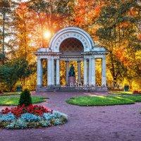 Цветы и памятник Марии Федоровне в Павловске :: Юлия Батурина