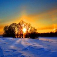 Морозное утро. Восход :: владимир васильев