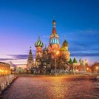 Голубое утро у Собора Василия Блаженного :: Юлия Батурина