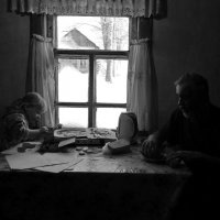 У окна с дедом :: Светлана Рябова-Шатунова