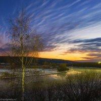 Закат на реке Ухта. :: Николай Зиновьев