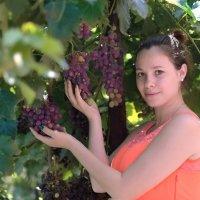 Красивая девушка в винограднике. Марина. :: Раскосов Николай