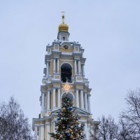 Елка в Новоспасском монастыре :: Галина Бехметьева