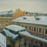 ...Питер,крыши,снег.. :: Галина Юняева