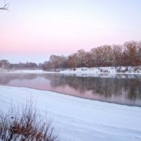 Розовый рассвет :: Сергей Тарабара