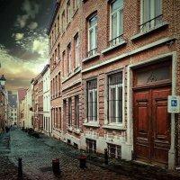 Зима на улочках Брюсселя, Бельгия :: Борис Соловьев