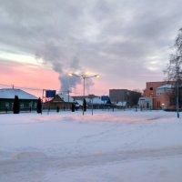 Розовое морозное утро :: Марина Ворошко (Митьковец)
