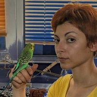 дама с попугайчиком :: Павел Гусев