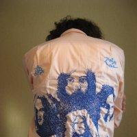 Авторская ручная вышивка нитками мулине на рубашках. :: Алим Шаваев