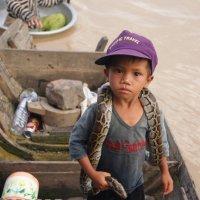 Отважный малыш с озера Тонлесап. :: Лариса Борисова