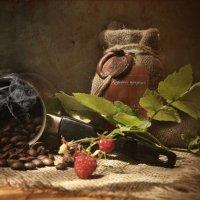 Горячий кофе с малиной :: Ольга Мальцева