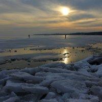 Зимний закат на пляже :: оксана косатенко