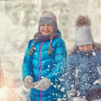 Под снежным душем. :: Алексей Хаустов