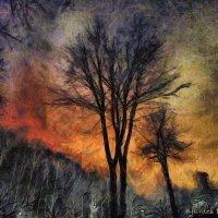 Тревожный зимний вечер. :: Михаил Николаев