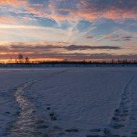 Февральский закат. :: Виктор Евстратов
