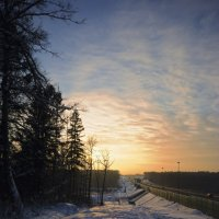 Зимний закат :: Дмитрий Симонов