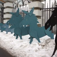 Ослики на снегу  ... :: Лариса Корж