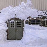маляр-зима хорошо поштукатурил стену :: Георгий А