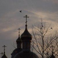 Вечернее небо над храмом Преображения Господня :: Данил Матвеев