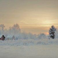 Зимний вечер в Молочном :: Валерий Талашов