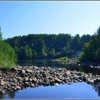 Карелия. Река Суна и потухший вулкан Гирвас. :: Ольга Кирсанова