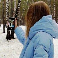 Автопортрет с дочерью :: Евгений Спирин