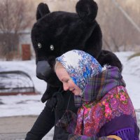 Прогулка с Мишей :: Наталия Григорьева