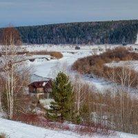 Деревня Медвежье и река Сылва :: Алексей Сметкин
