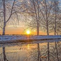 Весенне-зимний закат :: Василий Губский