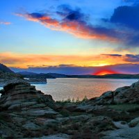 На берегу озера Тарайгыр. Вечер. :: Штрек Надежда